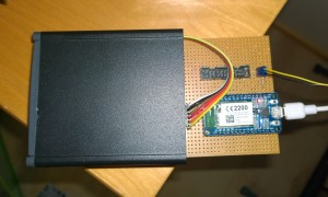 Second prototype board going into enclosure